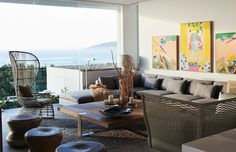 Cécile and Boyd for Robberg Beach House South African Homes, Sustainable City, Interior Architecture, Interior Design, Tuscan Decorating, Outdoor Furniture Sets, Outdoor Decor, Kelly Hoppen, New Homes