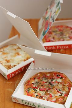 miniature pizza tutorial with pizza boxes template free download