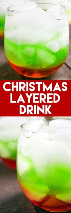 This Christmas Layered Drink is such a festive, holiday drink - & it tastes great, too! (Non-alcoholic)