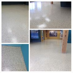 Rhino Linings of Ocean County Here is a photo collage to show the beautiful job we did at The Tuckerton Seaport last week. Rhino FastFloor was applied to the concrete floor using the color Granite.