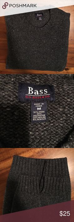 Bass sweater Armpit to armpit is 21 inches. Length from top of shoulder to end is 25 3/4 inches. Beautiful sweater Bass Sweaters