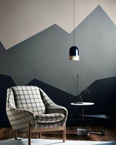 """Pocket: """"Eu adorei a parede em três tons.dessa inspiração. Bem legal. #inspiração #dagringa"""""""