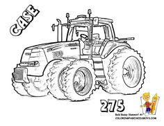 Print out workhorse Free Tractor Coloring - which do you like?Easy tractor coloring pages to print or hard tractor coloring sheets? Color Case IH tractors, tractor parts, farmer's clothes. Tractor Coloring Pages, Alphabet Coloring Pages, Coloring Pages To Print, Free Printable Coloring Pages, Coloring Book Pages, Free Coloring, Coloring Pages For Kids, Coloring Sheets, Kids Colouring