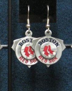 Boston Red Sox Licensed Pendant Earrings