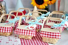 gingham favors