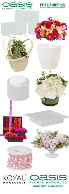 167 best Wedding Floral Supplies images on Pinterest | Centerpiece ...