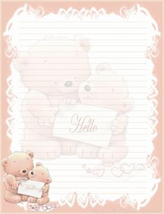 hello notebears line