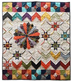 Shortcuts II quilt pattern made with 3D folded blocks. © 2008-2015 by Pati Fried.