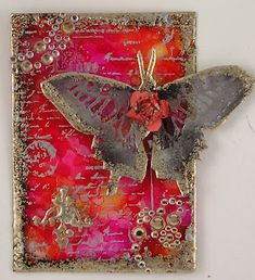 Suzanne's Stamping Spot: Stampendous & Clear Scraps - Silvery Butterfly