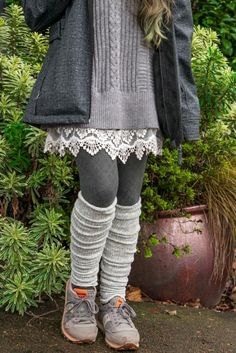 Marled scrunchable leg warmer in 2019 socks Leg Warmers Outfit, Boots With Leg Warmers, Thigh High Leg Warmers, Cute Outfits With Leggings, Cute Outfits For Kids, Cool Outfits, Casual Outfits, Casual Clothes, Fashionable Snow Boots