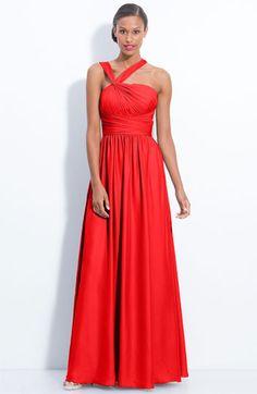 ML Monique Lhuillier Bridesmaids Twist Shoulder Chiffon Gown (Nordstrom Exclusive)
