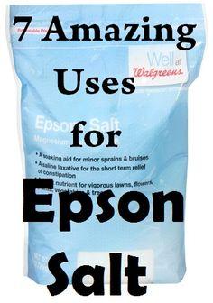 7 Amazin Uses and Benefits of Epson Salt