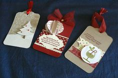 KB Papercraft: Christmas Boxes and Tags Homemade Christmas Gifts, Christmas Gift Tags, Xmas Cards, Christmas Crafts, Christmas Boxes, Christmas Ideas, Christmas Trimmings, Handmade Tags, Card Tags