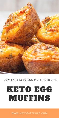 Jan 2019 - Keto egg muffins recipe with bacon and cheese. You'll fall in love with this keto beakfast recipe once you tried it. It's low in carbs and gluen-Free. Healthy Diet Recipes, Ketogenic Recipes, Keto Snacks, Low Carb Recipes, Ketogenic Diet, Ketogenic Breakfast, Ketogenic Supplements, Bacon Recipes, Ketosis Diet