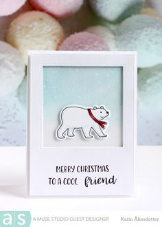 Amuse Studio: Mery Christmas To a cool friend  For more info: I share my creative projects here: https://www.instagram.com/peppermintpatty42/ and on my blog: http://peppermintpattys-papercraft.blogspot.se and on pinterest; https://www.pinterest.se/peppermint42/my-watercolors/