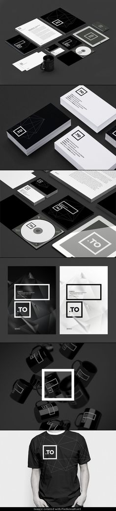 Graphic Black and White Brand Identity. The Cracow, Poland-based creative design and branding agency kreujemy.to updated their existing brand identity. Graphisches Design, Design Logo, Graphic Design Typography, Corporate Identity Design, Brand Identity Design, Visual Identity, Identity Branding, Personal Identity, Design Graphique