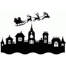 Image result for christmas village black and white