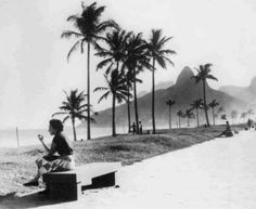 This image really captures Ipanema beach somewhere in what I am guessing would be the 50's or early 60's. It captures a certain serenity that I am able to recall from childhood and that is no longer possible in part because of a very high population density.