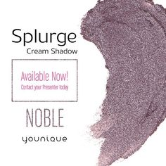 Meet Noble the newest member of the Splurge Cream Shadow in a rich royal lavender.  Double-tap if you're stoked to get your hands on it!