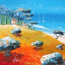 Oeuvre Paysage - La maison d´emmy - Vitoria - Huile