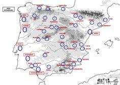 Principales ríos de España.