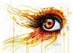 color pencil drawing eye
