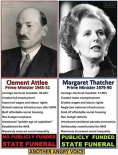 Clement Attlee vs. Margaret Thatcher