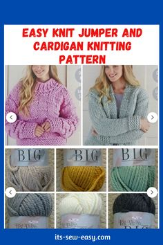 There's something irresistible about chunky jumpers and cardigans. Wearing one is like being in a warm and loving hug with no end. They are a must-have and a great challenge to intermediary knitters. Experienced ones will have an easier time completing the sweater. These easy to make jumpers and cardigans are not only warm and great way to keep the cold weather at bay but also deadly cute. #cardiganpatterns#knittedcardiganpattern#knittingpatterns#easyknitting#knittingathome#easycardiganpatterns Jumper Patterns, Knitting Patterns, Sewing Patterns, King Cole, Cardigans, Sweaters, Chunky Yarn, Getting Cozy, Jumpers