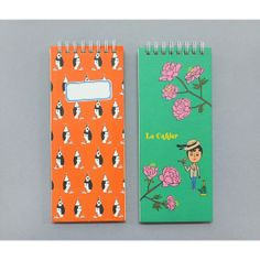 Oohlala Funny illustration spring twin wire lined long notepad (http://www.fallindesign.com/oohlala-funny-illustration-spring-twin-wire-lined-long-notepad/)