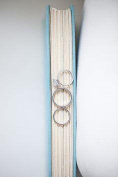 book wedding ring shot