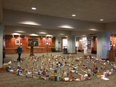 Food Donations Labyrinth, Hennepin Avenue United Methodist Church, Minneapolis, Minnesota.