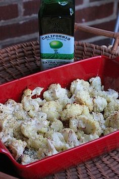 Yummy side dish - roasted cauliflower
