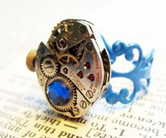 Steampunk ring  Vintage Benrus watch movement by InsomniaStudios, $45.00