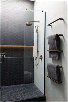Even your glass shower door can improve the looks of your restroom instantly. You could utilize colorful glass shower doors or stained glass shower doors with different themes on stained glass. Basement Bathroom, Bathroom Flooring, Shower Bathroom, Bathroom Ideas, Bathroom Organization, Shower Ideas, Bathroom Cabinets, Shower Floor, Bathroom Mirrors