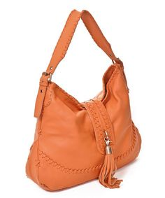 8bf572c80d5e Take a look at this Orange Fringe Tassel Hobo by Carla Mancini on  zulily  today