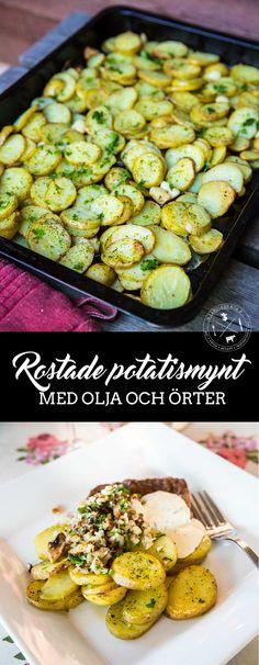 Rostade potatismynt med olja och örter