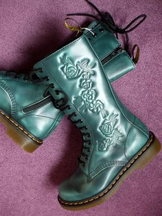 ♥ Dr Martens Teal Norah Boots ♥