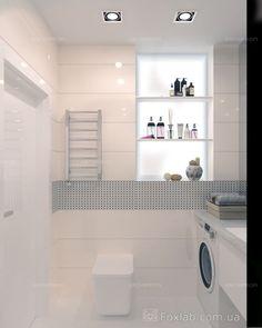 Интерьер Фото 03.08.2016/540550 Дизайн проект для квартиры 65 м2 с небольшим бюджетом от Студии интерьеров FoxLab_interior. Ванная комната Современная Foxlab Interior