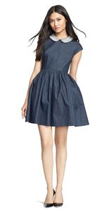 kate spade new york 'kimberly' embellished denim fit & flare dress: Every purchase through this link supports charity.