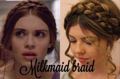 lydia martin hair milkmaid braid - Google Search