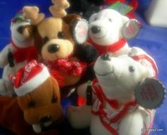 5 Brand New Coca-Cola Collectible Beanie Plush Toys 1998 FREE SHIPPING    Please check pictures all included  4 coca cola polar bears  one coca cola raindeer  all new with tags  collectible  free shipping