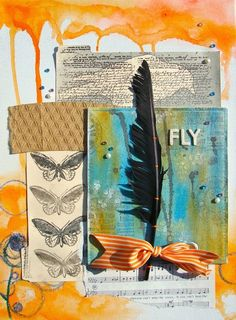 Fly- mixed media craft by Jen Matott