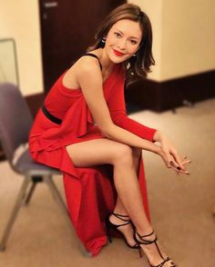 "6,500 Likes, 44 Comments - Kelly Hei Man Cheung 張曦雯 (@kelllycheung) on Instagram: ""Loving red lately 💃🏻 dress @susannasooatelier  shoes @louboutinworld  earrings @kyu.design  hair…"""