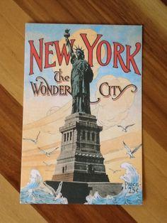Amazing NY postcard