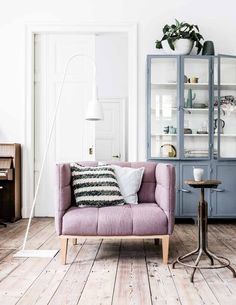 large lavender chair