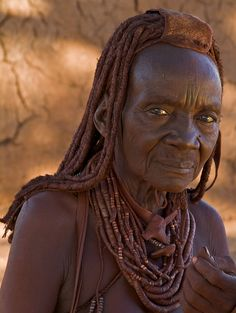 Africa | Old Himba woman. Namibia |  © Tim Thornton.