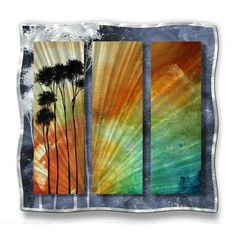 All My Walls 'Summer Palms' by Megan Duncanson Graphic Art Plaque