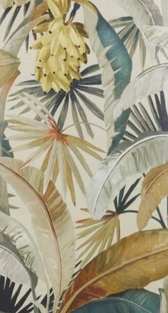 Floral jungle and tropical patterns. Floral jungle and tropical patterns. Floral jungle and tropical patterns. Floral jungle and tropical patterns. Tropical Fabric, Tropical Art, Tropical Pattern, Tropical Leaves, Tropical Flowers, Tropical Prints, Jungle Pattern, Print Wallpaper, Pattern Wallpaper