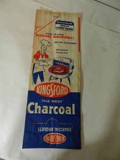 VINTAGE 1960'S KINGSFORD CHARCOAL BRIQUETS BAG-NOS- VINTAGE BBQ- VINTAGE PICNIC | eBay Kingsford Charcoal, Bar B Q, Vintage Picnic, Today Show, 1960s, Bbq, Im Not Perfect, Barbecue, Barrel Smoker