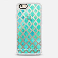 Mint Green Watercolor Diamond Pattern - transparent - New Standard Case